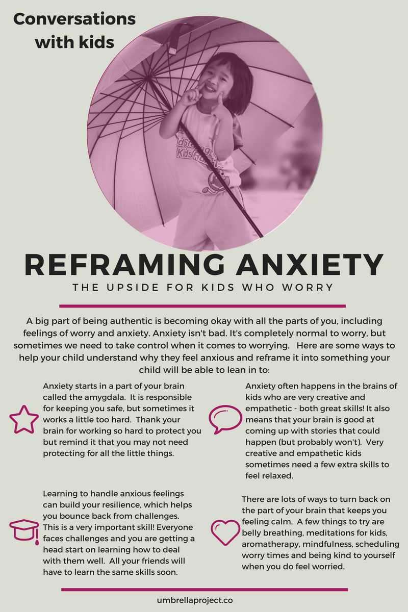 Conversations with kids: Reframing anxiety