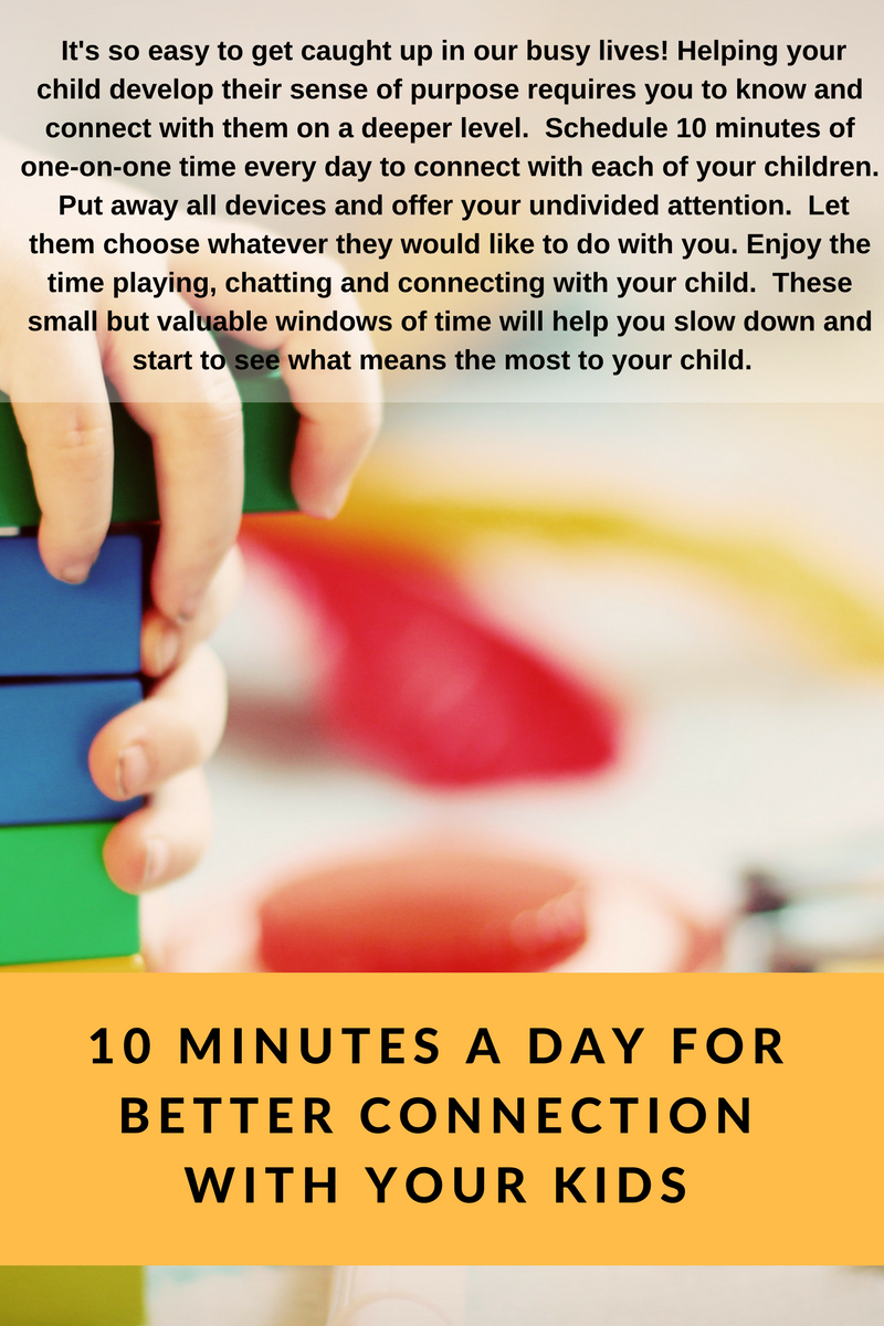 10 Minutes a Day for Better Connection with your Kids