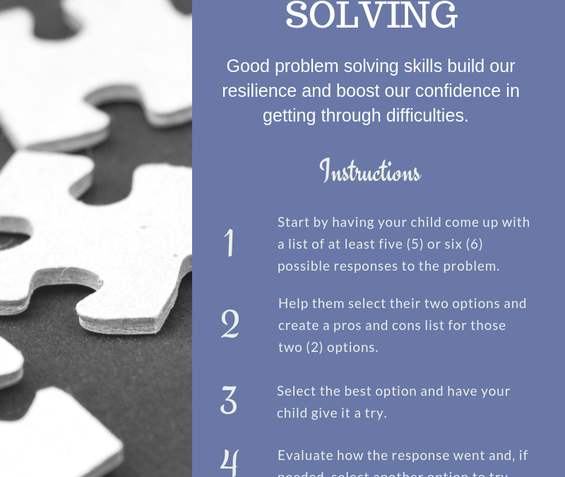 To build resilience this week, teach thoughtful problem solving