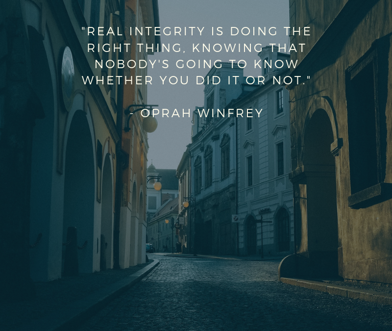 Real integrity is doing the right thing